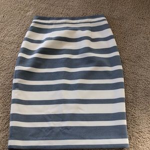 Halogen Blue and White Striped Skirt